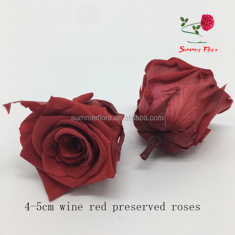 wholesale preserved roses everlasting 4-5cm preserved flower