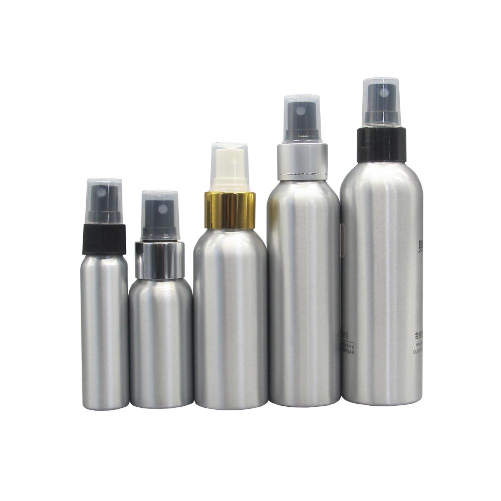 Fancy Perfume Ethanol Spray Bottle Customizable Hair Mini Metal Mist Spray Aluminium Bottle 50Ml