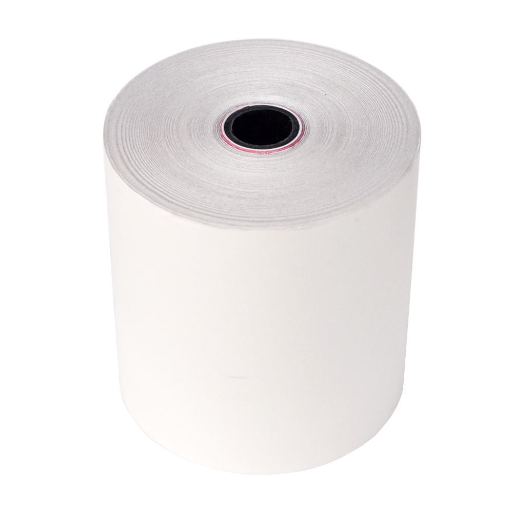 2-PLy (White and white) Carbonless Cash Register Paper Rolls