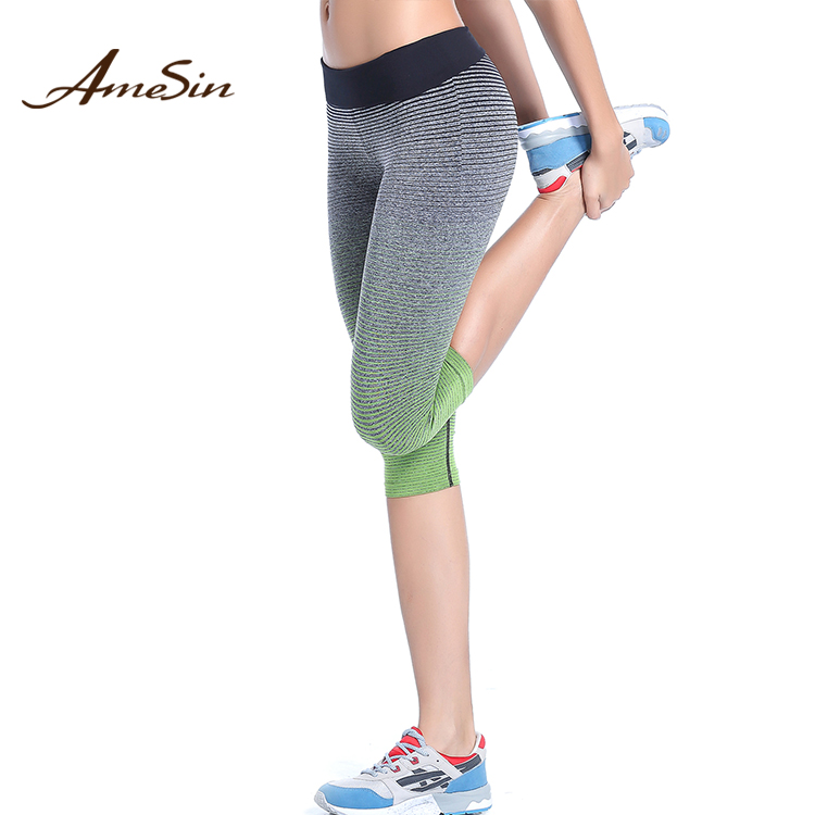 AMESIN ZAWA22 high waisted yoga pants sports fitness women yoga pants