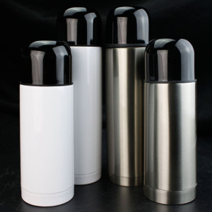 cheap wholesale blank stainless steel custom silver 350/500ml portable thermos flask