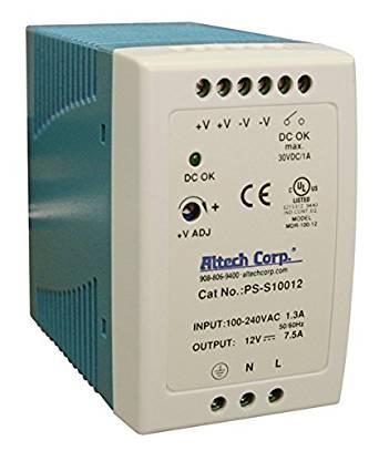 100W SlimLine DIN Rail Power Supply Supply, Single Phase, 85-264VAC/120-370VDC I/p, 12vDC o/p, 8A ,3 Year Warranty