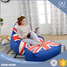 2017 Top Matching Uk Flag Beanbags Chair Sofa with best quality and low price