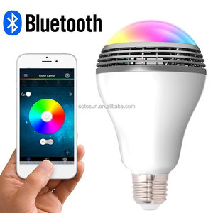 Smart LED Light Bulb with Bluetooth 4.0 Speaker,E27 Dimmable Multicolored Color Changing LED Lights