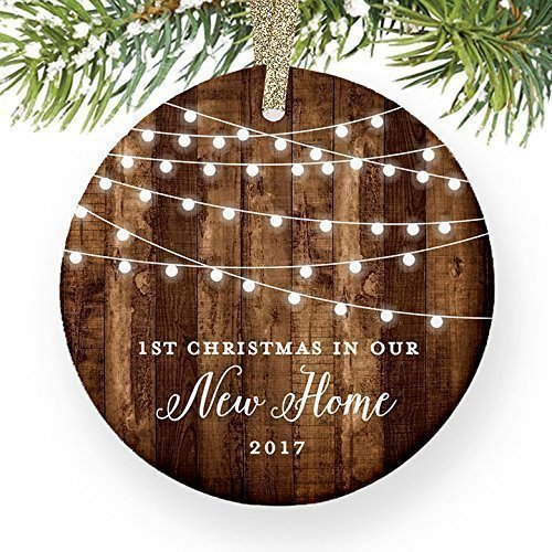 get quotations housewarming gifts 2018 dated 1st christmas in our new house ornament new home rustic xmas