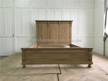 Massief Houten Meubels : Queen size landelijke stijl houten meubelen massief houten bed