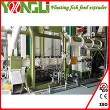 Easy processing China YongLi Brand 5-6t/h floating fish feed line