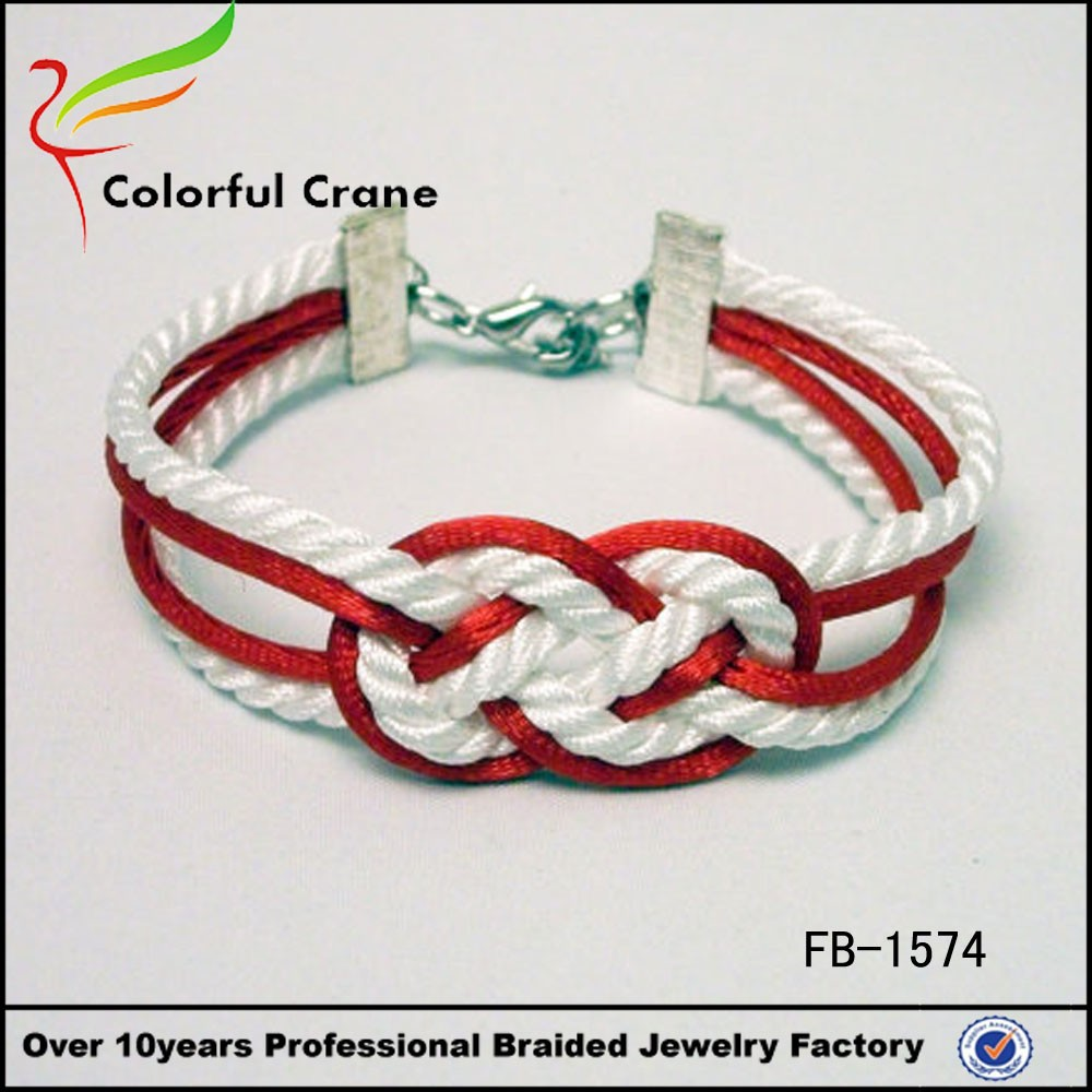 flask rope twisted bracelet red white bangles wholesale