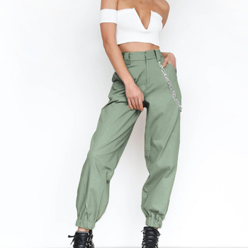 daaf52275bc Streetwear Cargo Pants Women Casual Joggers Black High Waist Loose Female  Trousers Korean Style harem pants