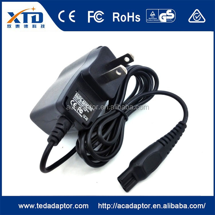 US standard power adapter for Philips Shaver Norelco HQ8 with CE ROHS FCC UL GS approved