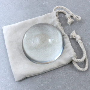 100mm Crystal reading Dome Paperweight Map magnifier for Reading Aid