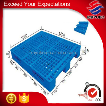 4 way transport heavy duty virgin hdpe and pp material plastic pallet, plastic pallet for trade made in china