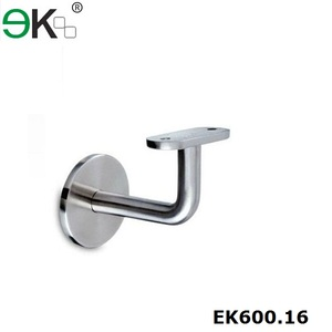 90 degree angle flat handrail wall glass bracket