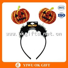Most fashionable pumpkin with feather Halloween headhands for kids