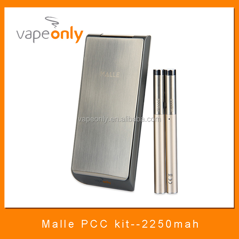 2017 New product VapeOnly Malle 1ml, 180mah double kits with 2250mAh PCC(Portable Charging Case)