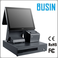 Best price 15 inch kfc pos computer terminal with thermal printer for beauty salon