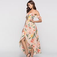 Yinqusiting in-stock Sexy Summer Floral casual wear for women beach dress