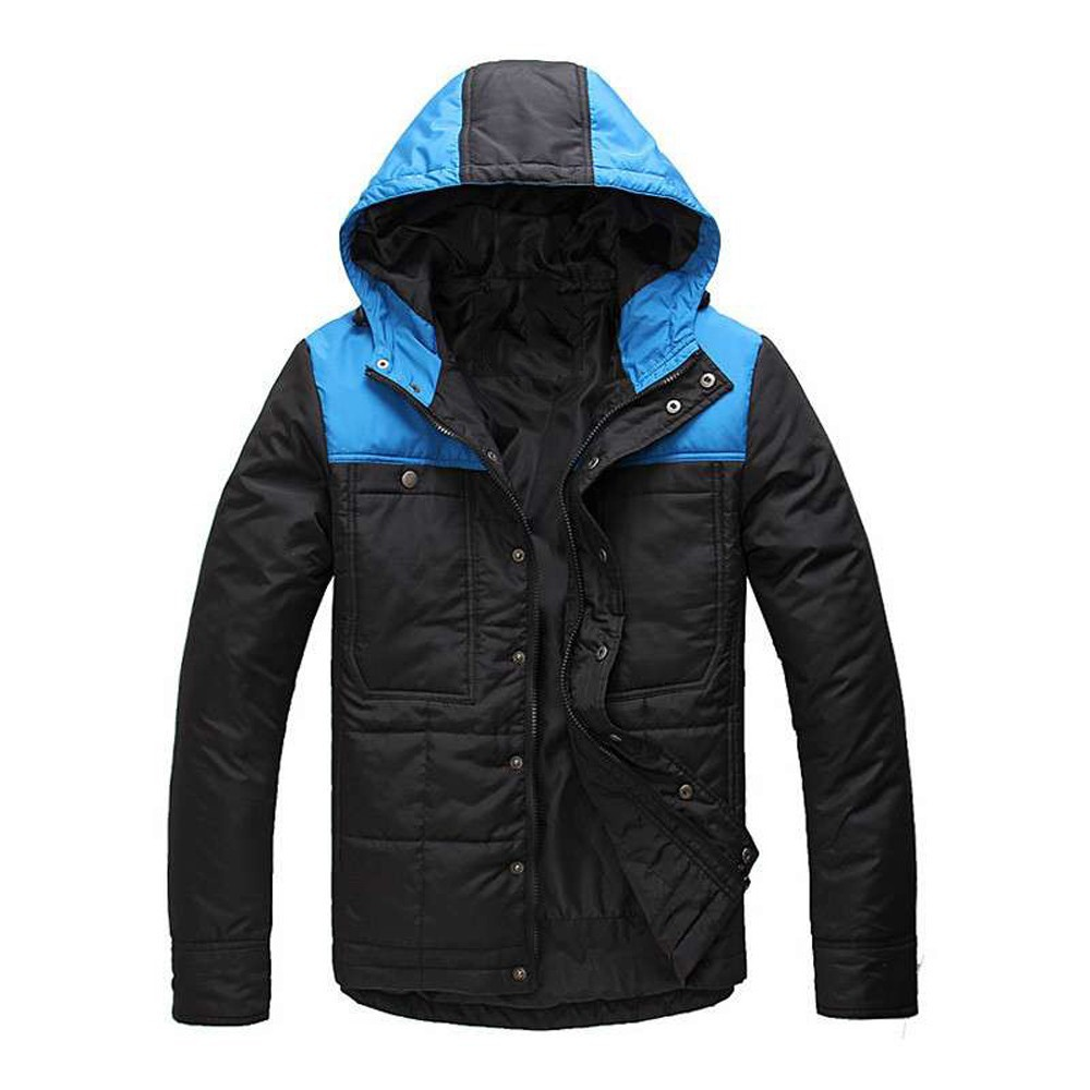 outdoorwear winter jacket with hood for men