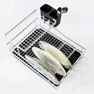 Wholesale 2-Tier Stainless Steel Dish / Plate Drying Rack For Kitchen