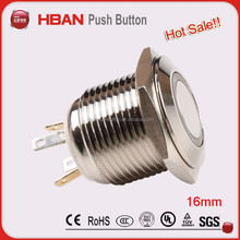 CE UL high quality best price single round waterproof elevator push button,bluetooth push switch button