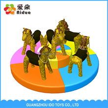2016 Competitive Price Pony Turntable Indoor Preschool Soft Play Equipment