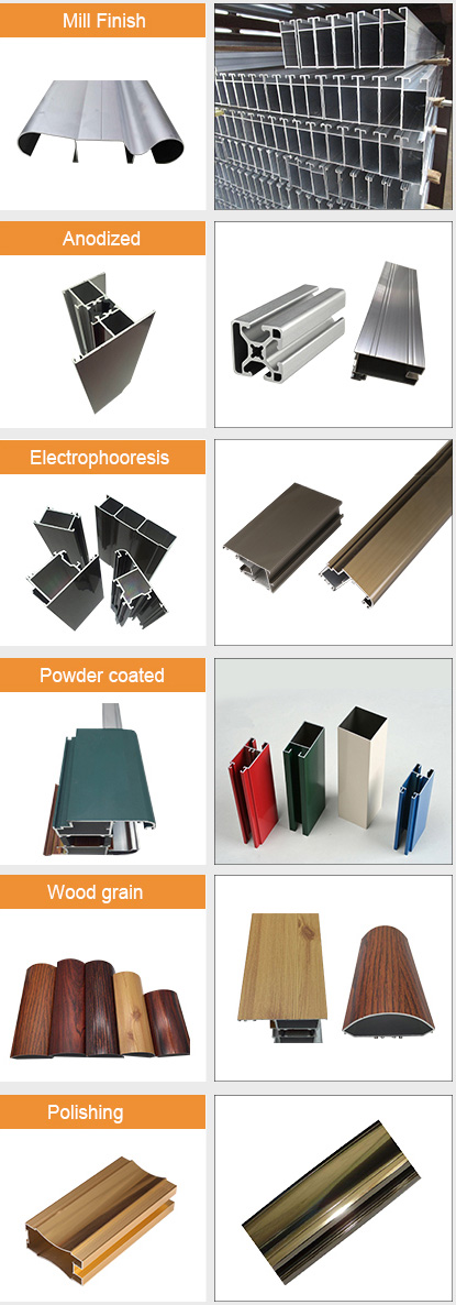 6000 Series 6063 Aluminum Alloy profile for windows and doors