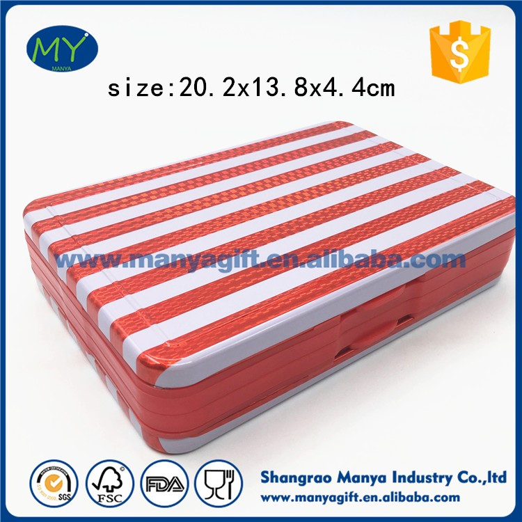 Hot sale factory direct price 40 colors double layer pressed rectangular tin pencil box of new structure