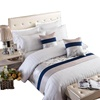 100% Cotton Fabric Stripe Bedding Set Hotel Custom Bed Linen