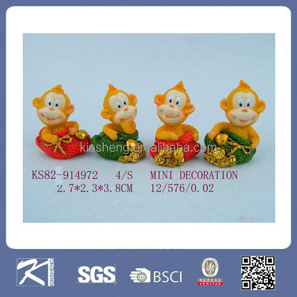 High quality small size monkey statue sculpture for sale