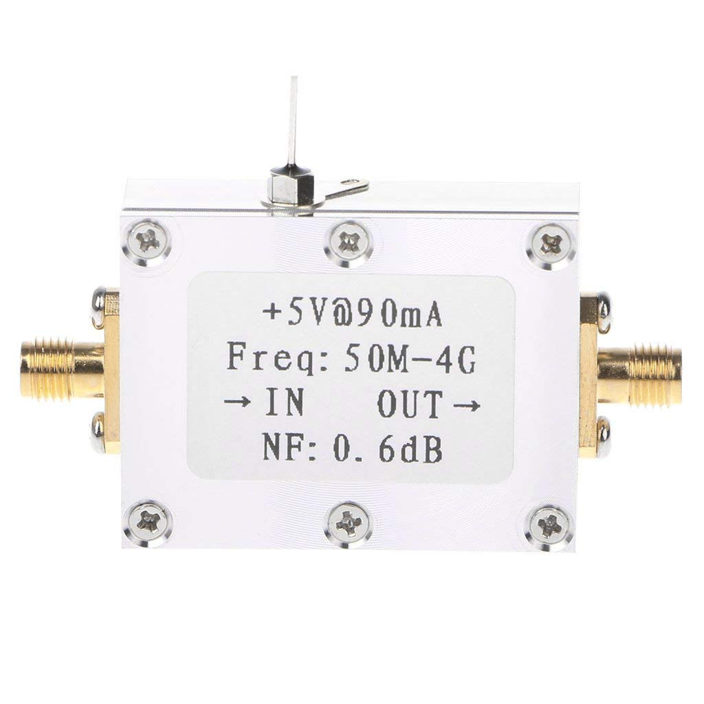 Qisuw Low Noise Amplifier-RF Amplifier Low Noise Amplifier Ham Radio Module LNA 50M-4GHz NF=0.6dB RF FM HF VHF/UHF Ham Radio -110dBm