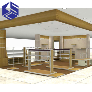 SGS Board fireproofing Materials Mall shoes polish retail display kiosk