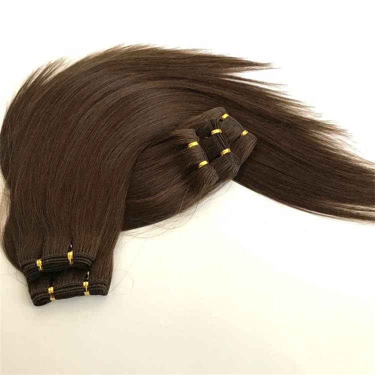 Greathairgroup Double Weft Remy Natural <strong>Human</strong> 100 Virgin 100% Pure Indian