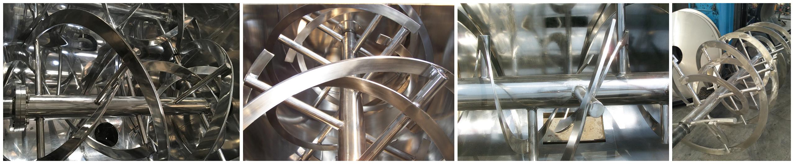 Dry gypsum powder horizontal paddle mixer double shaft paddle mixer
