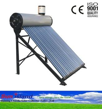 Familie Vakuumrohre Schwerkraft Solar Warmwasser Heizung Mit