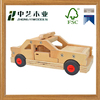 Natural handmade high quality children necessaries cute small wooden car toy