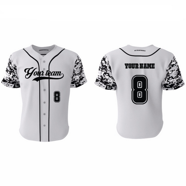 2018 fashion blank baseball jersey uniform,custom digital camo blank baseball jersey