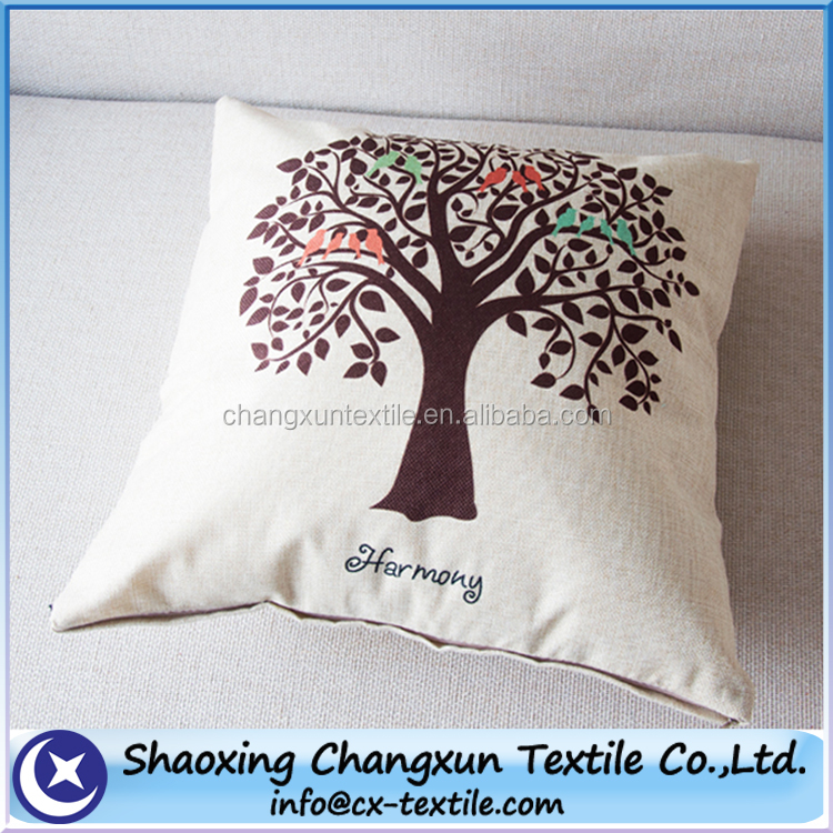 digital printing sofa linen cushion
