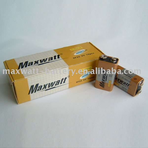 6F22 ALKALINE DRY CELL BATTERY 10PCS/BOX