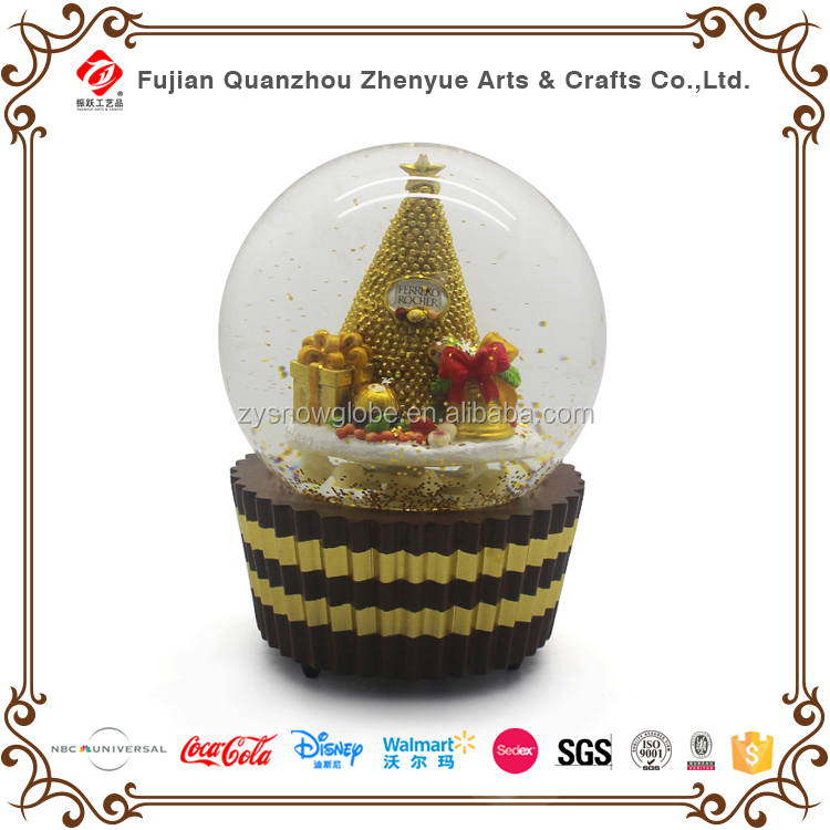 Audited Certificate Factory Famous Brands Supplier Crafts Ornament Decaration Promation Figurine Custom Resin Plastic Snow Globe