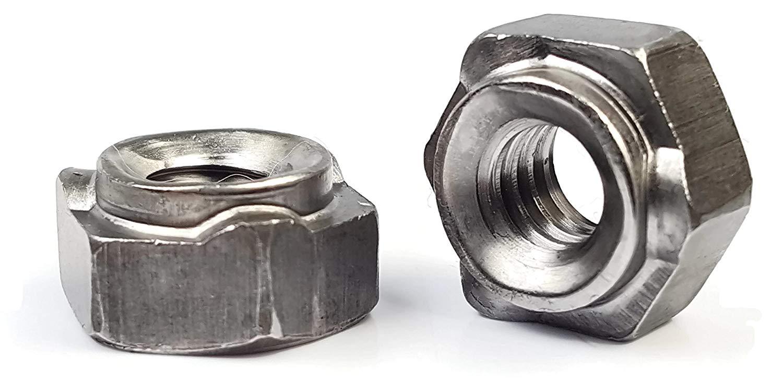 Thin Steel 1000pcs 10-24 Weld Nuts Spot Type