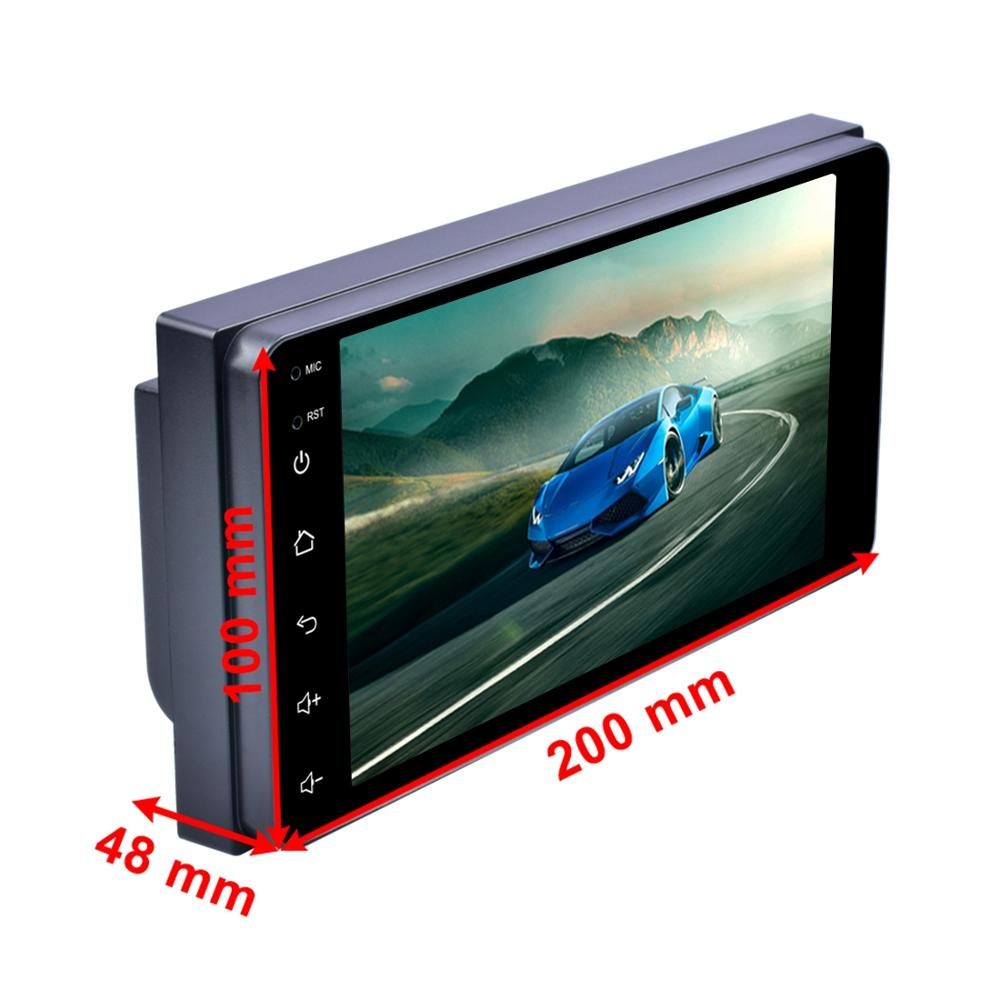 7 inch Touch Screen Android 8.1 Car Radio Receiver MP5 Player Support Phone Link & FM & AM & BT & WIFI & GPS for Toyota Car