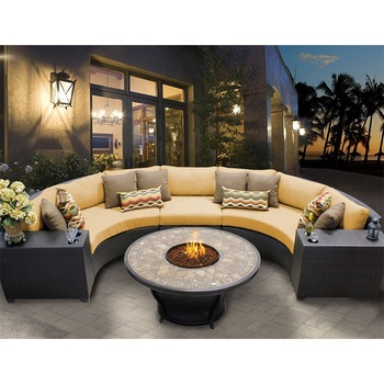 Curved Garden Round Sectional Rattan