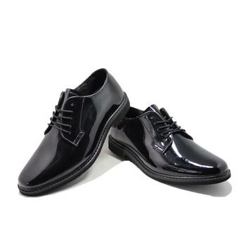De Charol Suave Oficial Policía Cuero Zapatos 6wO6qd7