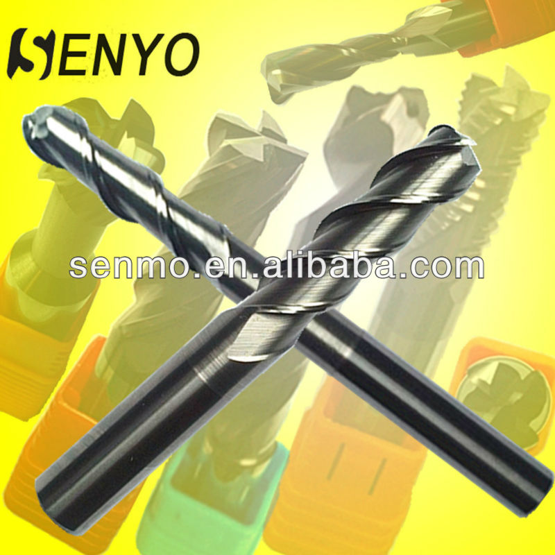 Senyo Aluminum Carving Tools/CNC Lathe Straight Shank 2 Flute Round Nose End Mill Cutting Tools