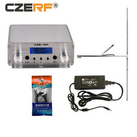 CZE-15A 15W 88MHz~108MHz FM Stereo PLL Radio Broadcast Transmitter 1/2 Dipole Antenna