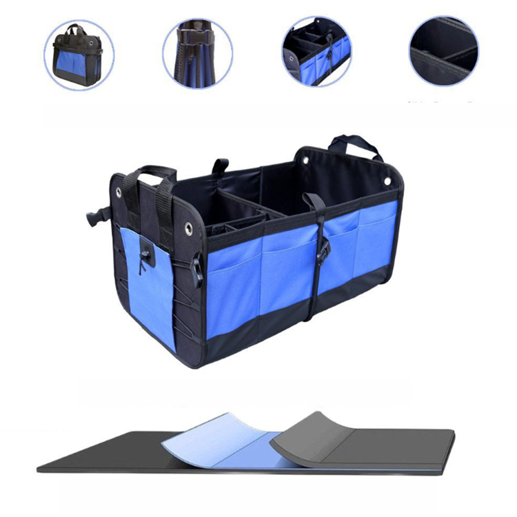 Osgoodway New Arrival Custom China Wholesale Large Auto Collapsible backseat car trunk organizer for shopping trip picnic