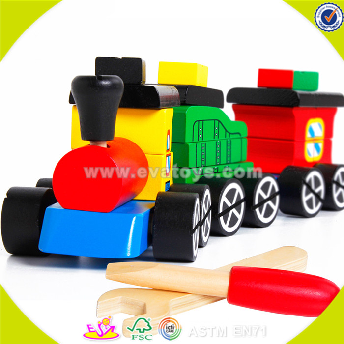 wholesale wooden toy kids train fashion wooden toy kids train sale wooden toy kids train W04A163