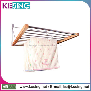 Bamboo Over Door Drying Rack Overdoor Towel Hanger