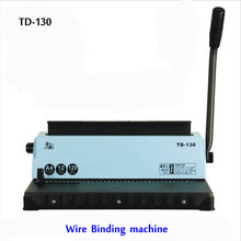 Free shipping by DHL ,A4 Wire binding machine TD-130, Small machine Big capacity.Easy Operation