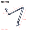 35A Hot Selling 10cm/35cm/45cm size table mic stand folding long microphone stand